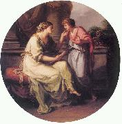 Angelica Kauffmann Papirius Pratextatus Entreated by his Mother to Disclose the Secrets of the Deliberations of the Rom oil painting artist